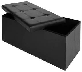 Deuba Klapbare bank/zitkruk MDF - 80x40x40 cm zwart
