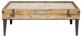 Kare Design Collector Salontafel Met Vitrine Naturel - 122 X 55cm.