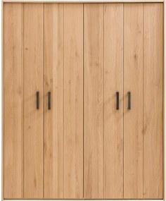 Goossens Excellent Kledingkast Nord, 180 cm breed, 222 cm hoog, 4 hout draaideuren