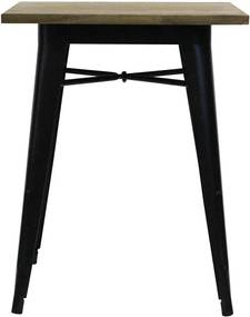 The Red Cartel   Tafel Tucker lengte 60 x breedte 60 x hoogte 75 cm zwart bijzettafels staal, dennenhout meubels tafels   NADUVI outlet