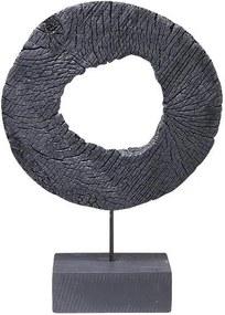 Goossens Decoratie Houten Ring, 43 cm mango hout zwart