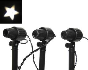 Kerstverlichting ster projector 8 LED s buiten