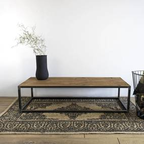 Spinder Design Salontafel John 140x60 cm - Eiken hout - Staal - Spinder Design