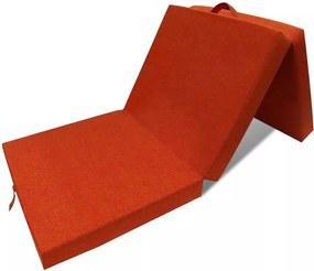 Schuimmatras opklapbaar oranje 190x70x9 cm