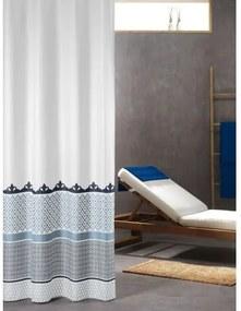 Douchegordijn Textiel Sealskin Marrakech Polyester Blauw/Metallic 180x200cm