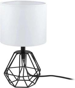 EGLO tafellamp Carlton 2 - zwart/wit - Ø16 cm - Leen Bakker