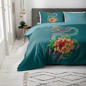 Fresh & Co Dekbedovertrek Floral Dragon 1-persoons (140 x 200/220 cm) Dekbedovertrek