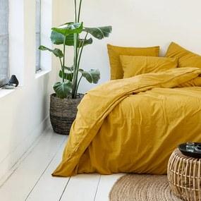 Presence Plain Percale - Yellow Lits-jumeaux (240 x 200/220 cm + 2 kussenslopen) Dekbedovertrek