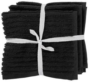 Vaatdoekjes - Katoen - Zwart - 3 Stuks (zwart)