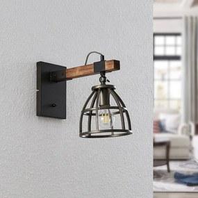Tanina wandlamp met kooikap - lampen-24