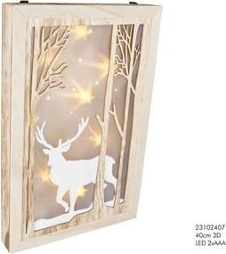 Wanddecoratie 40 cm 3D rendier LED