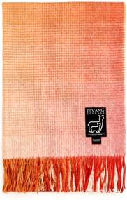 Plaid oranje, pompoen, alpaca wol: Horizon