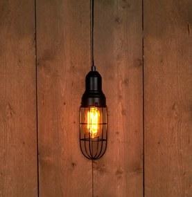 Hanglamp zwart 30 x 9 cm E27 3 meter met schakelaar