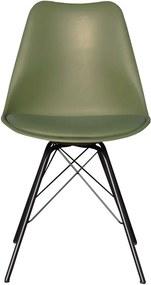 Kick Collection | Eetkamerstoel Metal Luuk breedte 48 cm x diepte 50 cm x hoogte 85 cm zwart, groen stoelen metaal, kunstof | NADUVI outlet