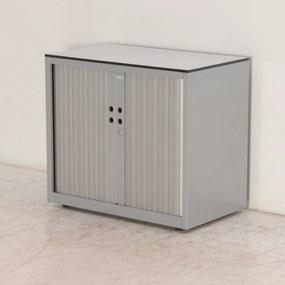 Roldeurkast, 72 x 80, aluminium, incl. 1 legbord