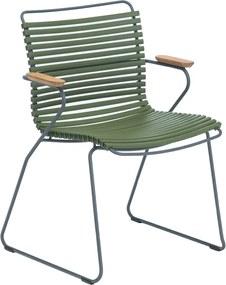 Houe Click Armchair tuinstoel olive green set van 2