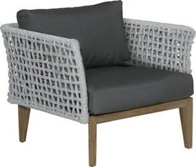 Malton loungestoel - natural teak