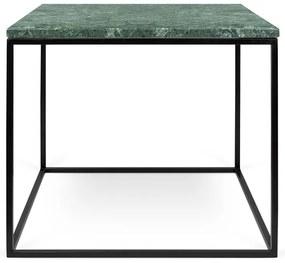 TemaHome Gleam Marble Bijzettafel Van Groen Marmer - Zwart Onderstel - 50 X 50cm.
