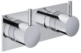 Cobber CB029 inbouw mengkraan met 2-weg omstel geborsteld koper