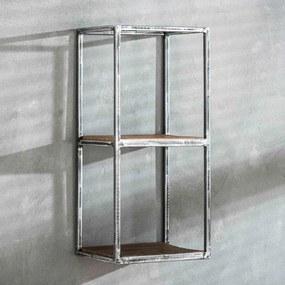 Metalen Wandrek Vintagelook - 30x25x65cm.