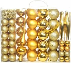 Kerstballenset 6 cm goud 113-delig