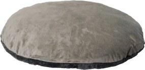 Ligkussen met rits antraciet/grijs 102 cm