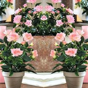 Kunstplant - Rozen - Set van 2
