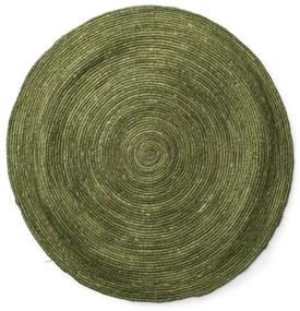 Vloerkleed groen - Ø87 cm