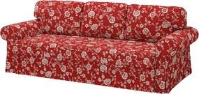 IKEA VRETSTORP 3-zits slaapbank Virestad rood/wit - lKEA