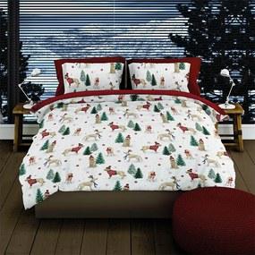 Romanette Hazel - Verwarmend Flanel - Rood Lits-jumeaux XL (270 x 200/220 cm + 2 kussenslopen) Dekbedovertrek