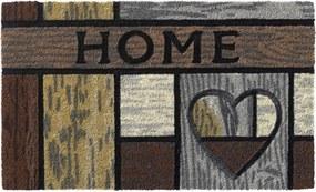 deurmat ruco style wooden heart 45x75cm