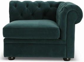 Lanterfant | Hoekdeel bank Henry Rechts - totaal: breedte 97 cm x diepte 70 cm x hoogte groen hoekbanken velvet banken meubels | NADUVI outlet
