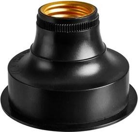 BATI Lamphouder batterij E27 zwart H 6 cm; Ø 8 cm