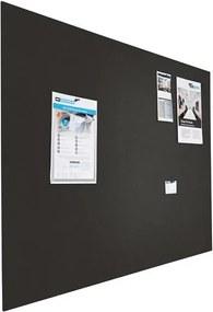 Prikbord bulletin - Zwevend - 120x200 cm - Zwart