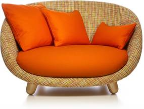 Moooi Love Sofa bank Bouclé Rainbow / Divina 542 Composition
