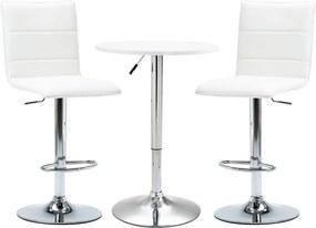 3-delige Barset kunstleer wit