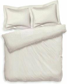 Heckett Lane Uni Stripe - Creme 2-persoons (200 x 200/220 cm + 2 kussenslopen) Dekbedovertrek