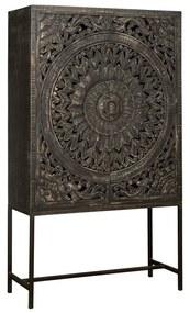 Renew Casina Vintage Wandkast Snijwerk - 110x45x190cm.