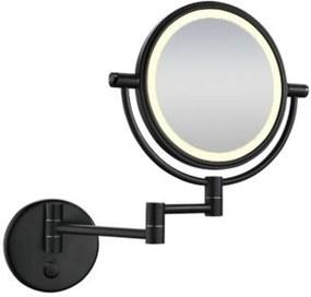 Scheerspiegel met LED-verlichting Wandmontage Mat Zwart