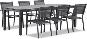 Lifestyle Amarilla/Concept 220 cm dining tuinset 7-delig stapelbaar