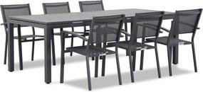 Lifestyle Amarilla/Concept 220 cm dining tuinset 7-delig stapelbaar