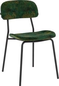 Goossens Basic Eetkamerstoel Onda groen microvezel modern design