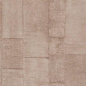Rivièra Maison - RM Wallpaper Rustic Rough Linen rose - Kleur: roze