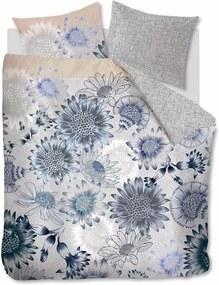 Oilily   Dekbedovertrekset Sunflowers lits-jumeaux xl: breedte 260 cm x lengte 200/220 cm blauw dekbedovertrekken katoensatijn   NADUVI outlet