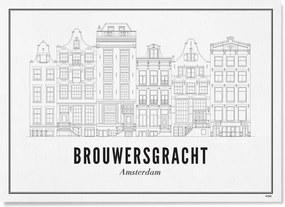 WIJCK- Amsterdam Brouwersgracht print