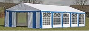 Partytent boven-en zijpanelen 10 x 5 m blauw & wit