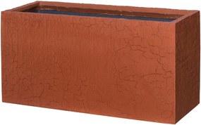 Pottery Pots | Bloempot Jort lengte 100 cm x diepte 40 cm x hoogte 50 cm rood outdoor bloempotten fiberstone outdoor tuinaccessoires | NADUVI outlet
