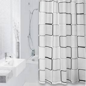 Douchegordijn Differnz Textiel Cubi PEVA Grijs 180x200cm
