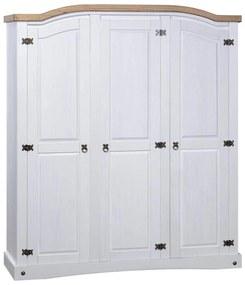 Medina Kledingkast met 3 deuren Mexicaans grenenhout Corona-stijl wit