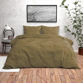 Zensation Dobby - Olijf Groen 1-persoons (140 x 200/220 cm + 1 kussensloop) Dekbedovertrek